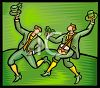 Irishmen Celebrating St. Patrick's Day clipart