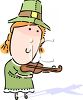 Irish Girl Playing the Fiddle clipart