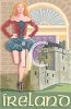 Clogger and Castle on an Ireland Travel Poster clipart