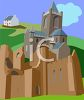 Castle in the Irish Countryside clipart