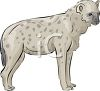 Spotted Hyena Standing clipart