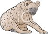 Spotted Hyena Sitting clipart