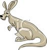 Cartoon Mother Kangaroo clipart