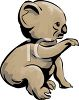 Cartoon of a Koala Bear clipart