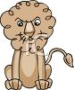 Fierce Looking Cartoon Lion clipart