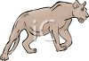 Young Female Lion Stalking  clipart