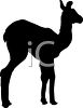 Silhouette of a Young Llama clipart