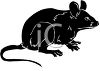 Silhouette of a Rat clipart