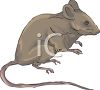 Mouse Sitting on His Hind Legs clipart
