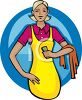 A Woman Dressed For Spring Cleaning clipart