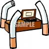 Death From Smoking Cigarettes Concept clipart