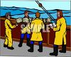 Sailors Performing a Burial at Sea clipart