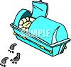 Footsteps Leading Away from a Casket clipart