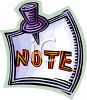 Note Tacked to a Wall clipart