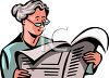 Grandma Reading the Newspaper clipart