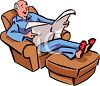 Grandpa Reading the Newspaper clipart
