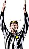 Realistic Referee Giving the Sign for a Score clipart