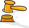 Cartoon Gavel clipart