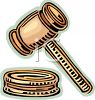 Wooden Gavel clipart