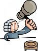 British Judge Smashing His Gavel Down clipart