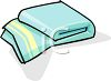 Folded Bath Towel clipart
