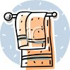 Towel on a Rack clipart