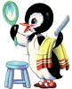 Penguin Combing His Hair clipart