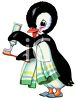 Penguin Brushing His Teeth clipart