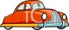 Cartoon of an Old Fashioned Sedan clipart