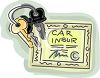 Car Keys and Insurance Paper clipart