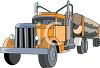 A Commercial Logging Truck clipart