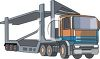 A Commercial Car Hauler clipart