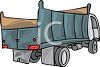 A Light Duty Dump Truck clipart