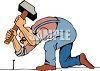 Handyman Pounding in a Nail clipart