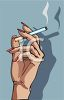 Woman's Hand Holding a Cigarette clipart