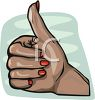 Woman's Hand Giving a Thumbs Up clipart