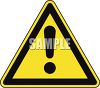 Safety Triangle with an Exclamation Point clipart