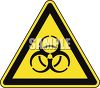 Safety Triangle for Nuclear Hazard clipart