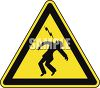 Safety Triangle for Lightening or Electricity Hazard clipart