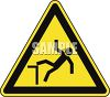 Safety Triangle for Falling Hazard clipart