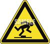 Safety Triangle for Tripping Hazard clipart