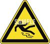 Safety Triangle for Slipping Hazard clipart