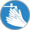 Sign for Washing Your Hands to Prevent Germs clipart
