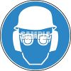 Sign for Safety Goggles and Hard Hat Required clipart