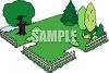 Aerial View of a Park clipart