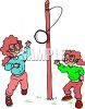 Girls Playing Tether Ball clipart