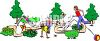 Kids Playing in a Park clipart