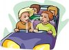 Teens on a Roller Coaster clipart