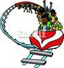 Roller Coaster Going Upside Down clipart