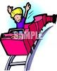 Boy Alone in a Roller Coaster Car clipart